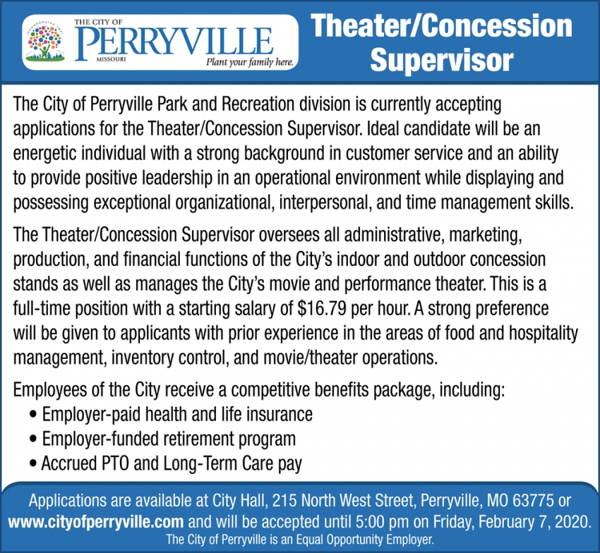 Theater/Concession Supervisor