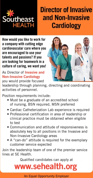 Director of Invasive and Non-Invasive Cardiology