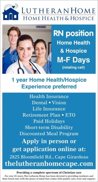 RN- Home Health & Hospice