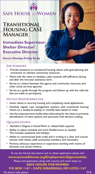 Transitional Housing Case Manager