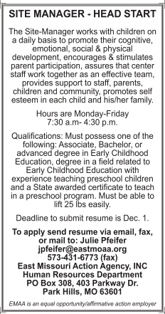 Site Manager- Head Start