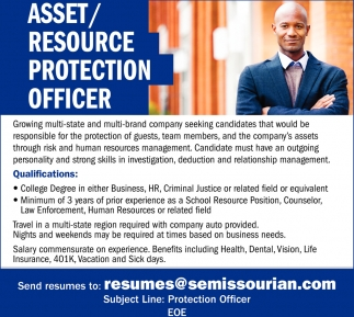 Asset/Resource Protection Officer