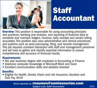 Staff Accountant