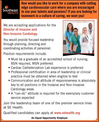 Director of Invasive & Non-Invasive Cardiology