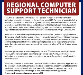 Regional Computer Support Technician