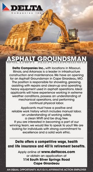Asphalt Groundsman