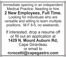 Full Time Employees Independent Medical Practice