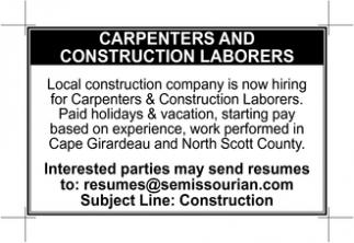Carpenters & Construction Laborers