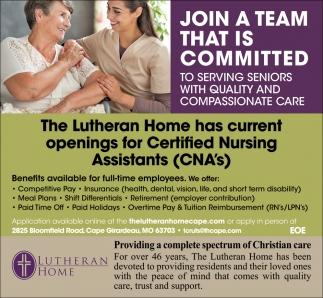 Certified Nursing Assistans