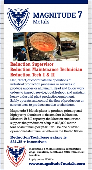 Reduction Supervisor & Techs