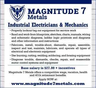 Industrial Electricians & Mechanics