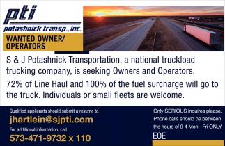 Owner/Operators
