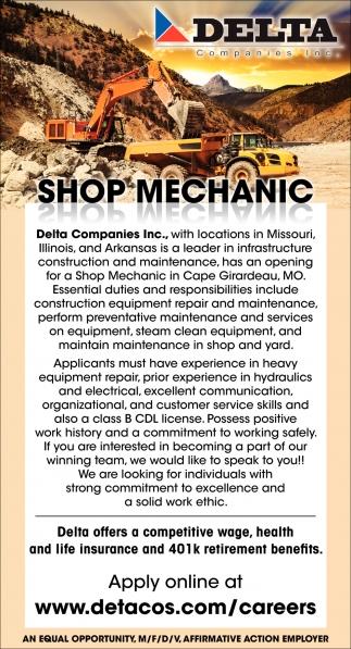 Shop Mechanic