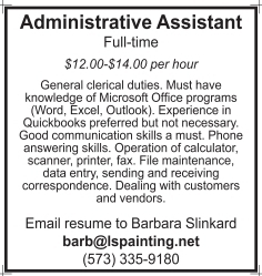 Administrative Assistant, Loyd Slinkard Painting Co , Inc