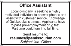 Office assistant jobs near me part time