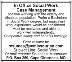 In Office Social Work Case Management