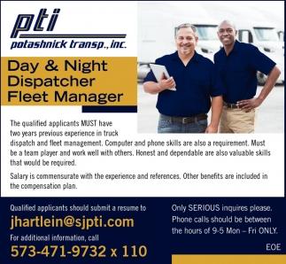 Dispatchers, Fleet Manager