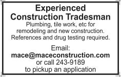 Experienced Construction Tradesman