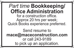 Bookkeeping/Office Administration