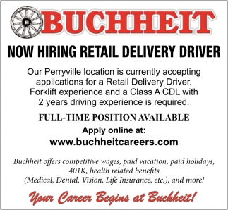 Retail Delivery Driver Buchheit Inc