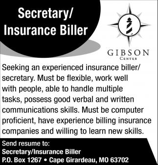 Secretary/Insurance Biller