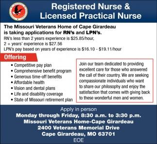 Registered Nurse, Licensed Practical Nurse