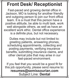 Front Desk/ Receptionist
