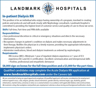 In-patient Dialysis RN