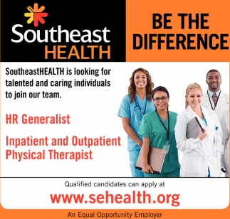 HR Generalist, Inpatient and Outpatient Physical Therapist
