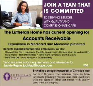 Accounts Receivable The Lutheran Home Cape Girardeau Mo