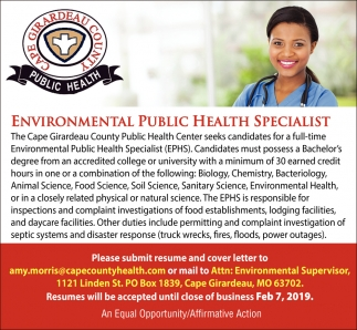 Environmental Public Health Specialist