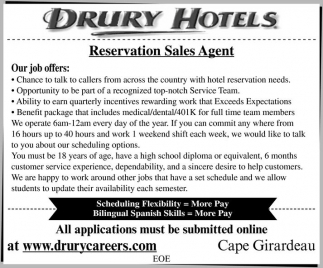 Drury Hotels General Jobs From Southeast Missourian