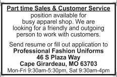 Part time Sales & Customer Service