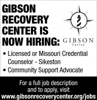 Licensed or Missouri Credential Counselor, Community Support Advocate