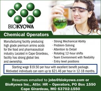 Chemical Operators
