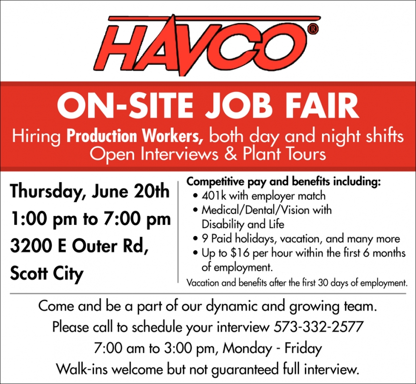 On-Site Job Fair