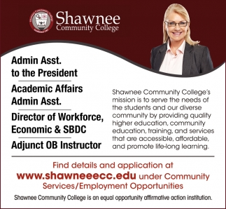 Employment Opportunities at Shawnee Community College