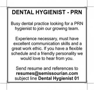 Dental Hygienist - PRN