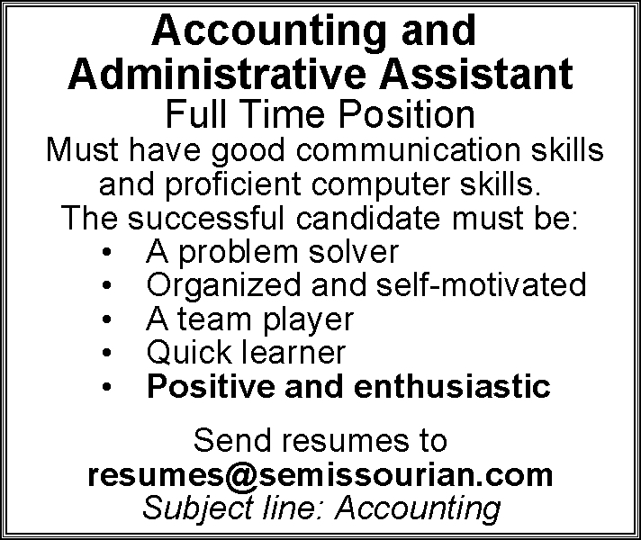 Accounting and Administrative Assistant