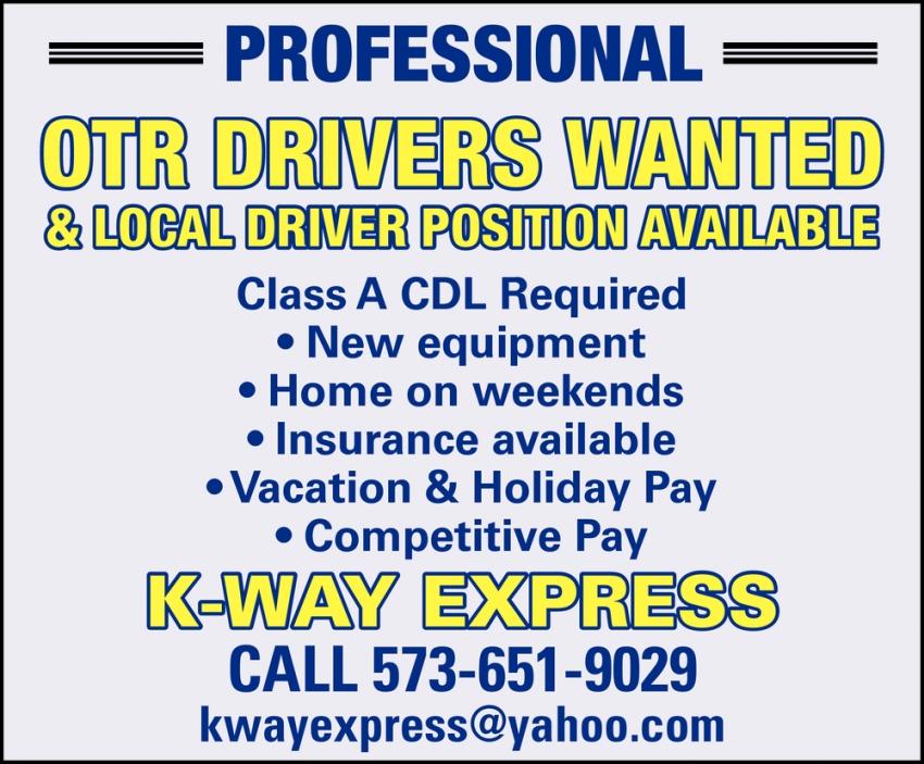 OTR Drivers & Local Driver